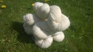2 trådet 7/2 garn af shropshire lamme uld 75,- kr. pr 100 gram